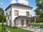 Проект двухэтажного дома с чердаком